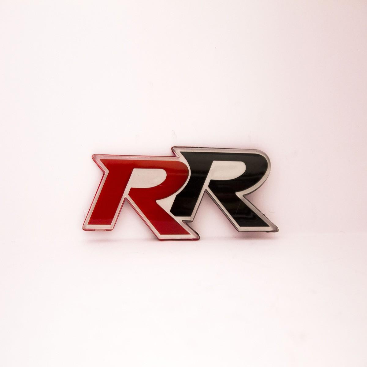R R Metal Logo Batch for Cars