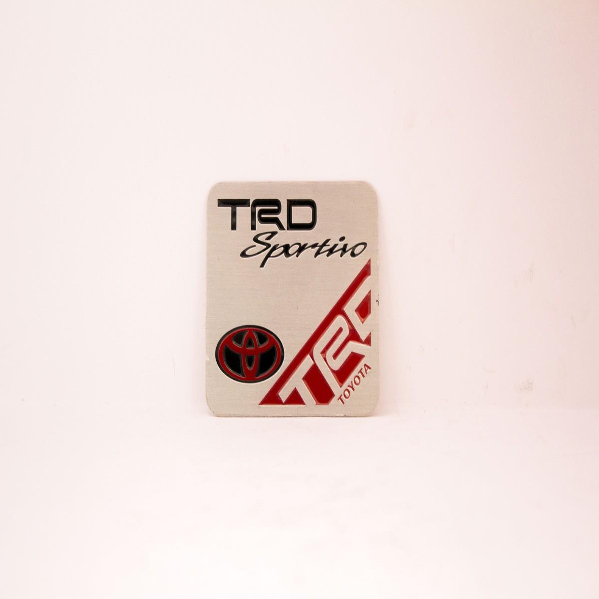 TRD Sportino Metal Logo Batch for Cars