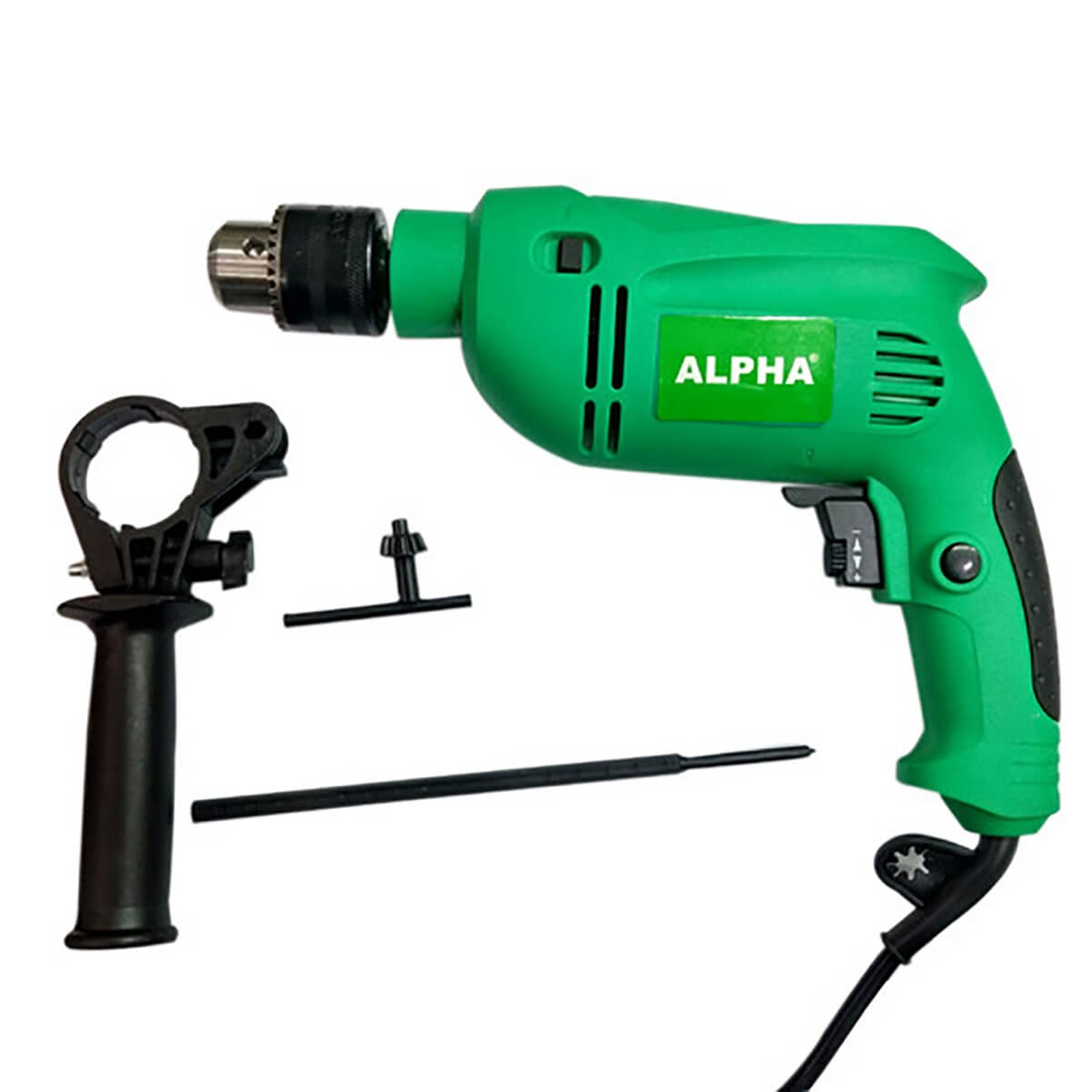 Alpha 650W Impact Drill Metal Rotating Handle Hammering Home A6136