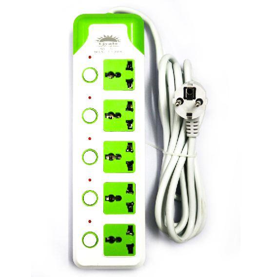 Multi-plug with 5 sockets