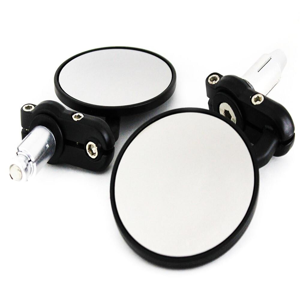 Handle Round Mirror bar end mirrors Circular rare view Mirror