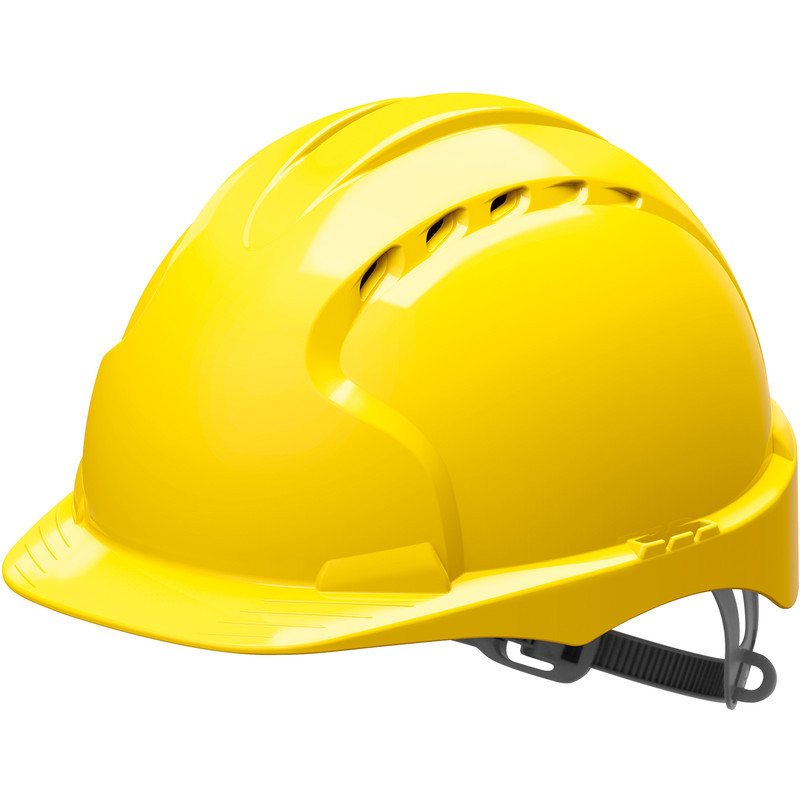 Safety Adjustable Construction Helmet - Yellow