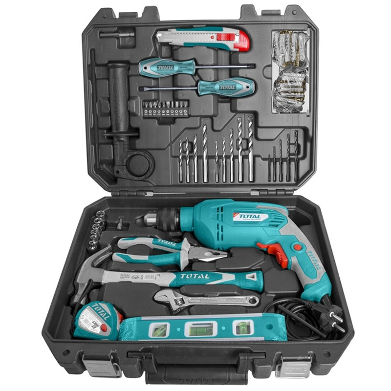 Total 101PCS Impact drill with tool kit set THKTHP1012