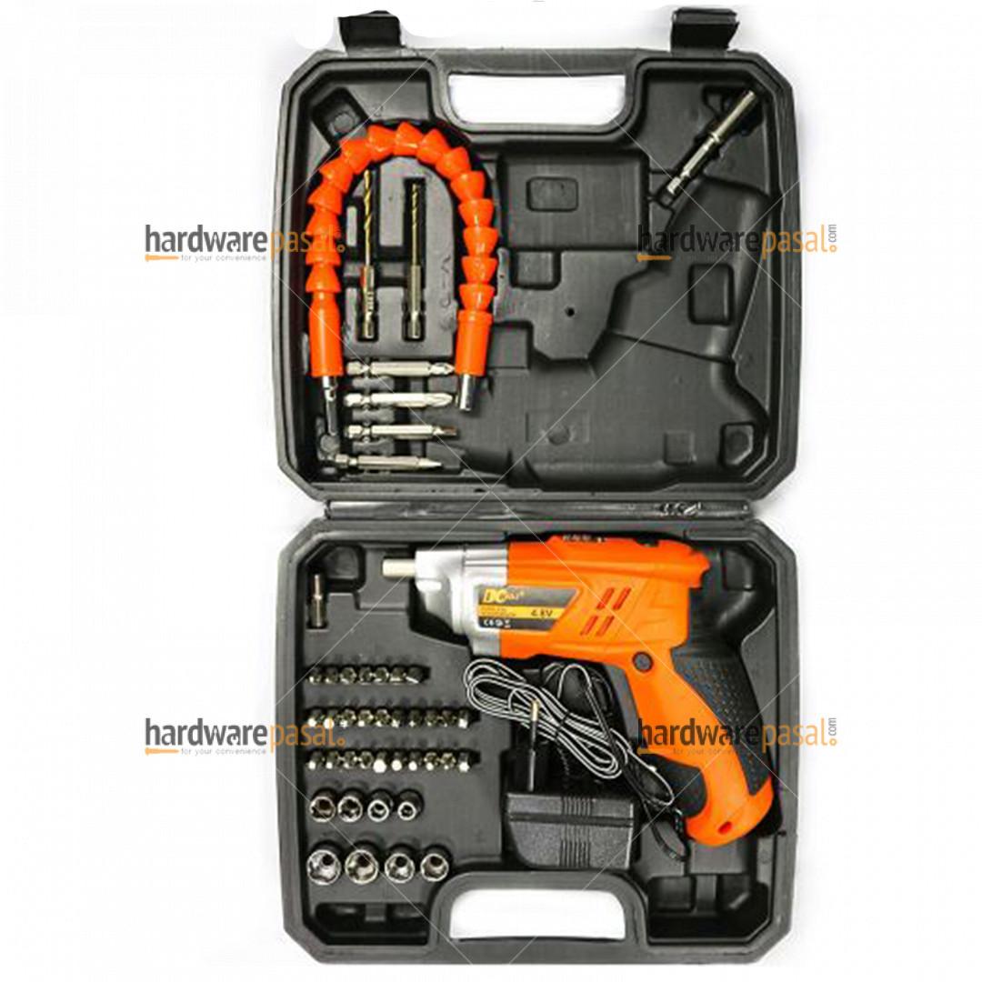 DC tools cordless screwdriver tool set box