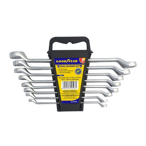 GoodYear GY10141 8pcs Box Pack Ring Spanners Set