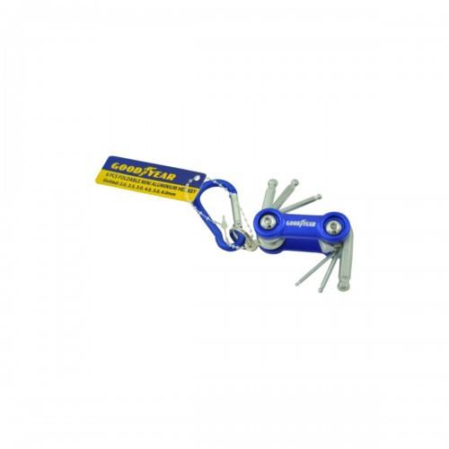 GoodYear GY10476 6 Pcs Mini Aluminium Hex Key Set