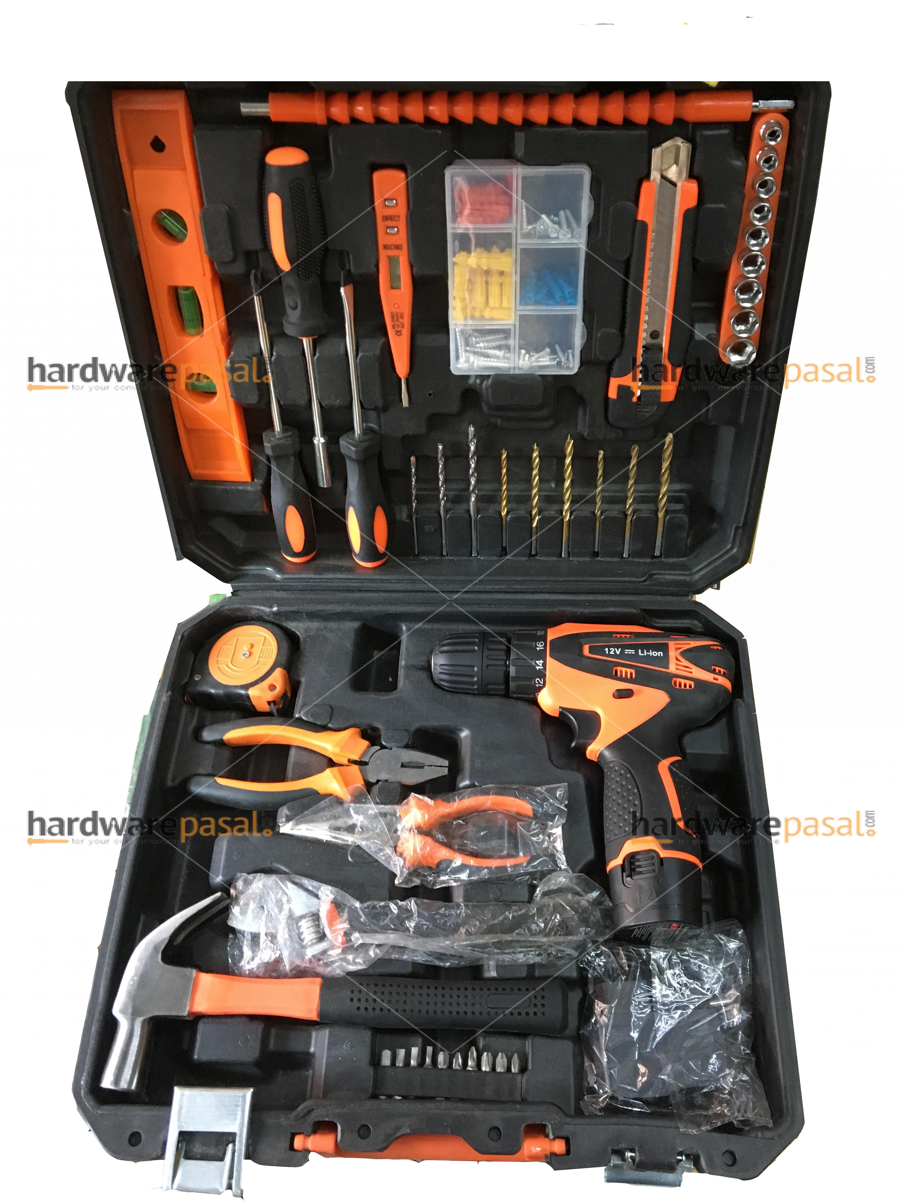Cordless drill tool set box