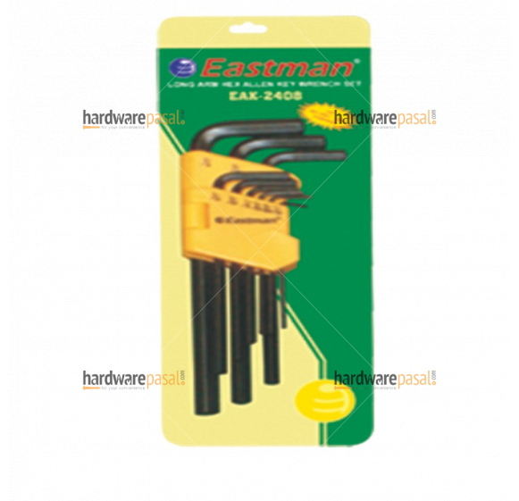 Eastman 9 PCS. Hex Allen Key Set - Long Pattern (mm size)   EAK-2408