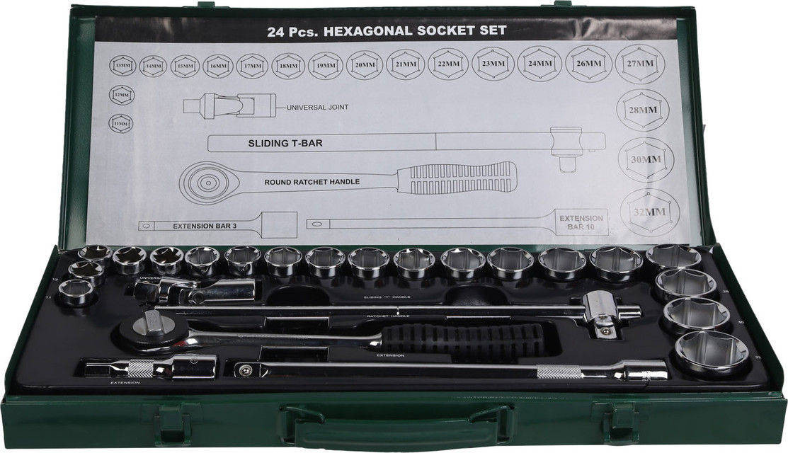 "Eastman ½"" Drive Socket Set (Hex Socket Set) E- 2202"