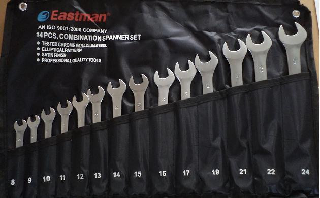 Eastman 14 Pcs. Combination Spanner Set Kit Packing E-2005