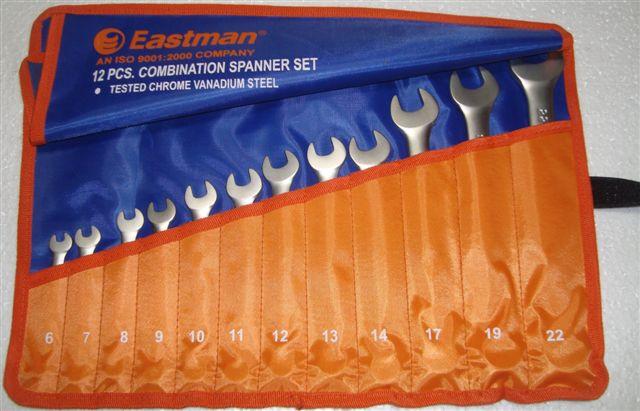 12 Pcs. Combination Spanner Set Kit Packing E-2005