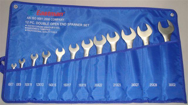 Eastman 12 Pcs. DOE Jaw Spanner (Open Spanner) Set Kit packing E- 2001