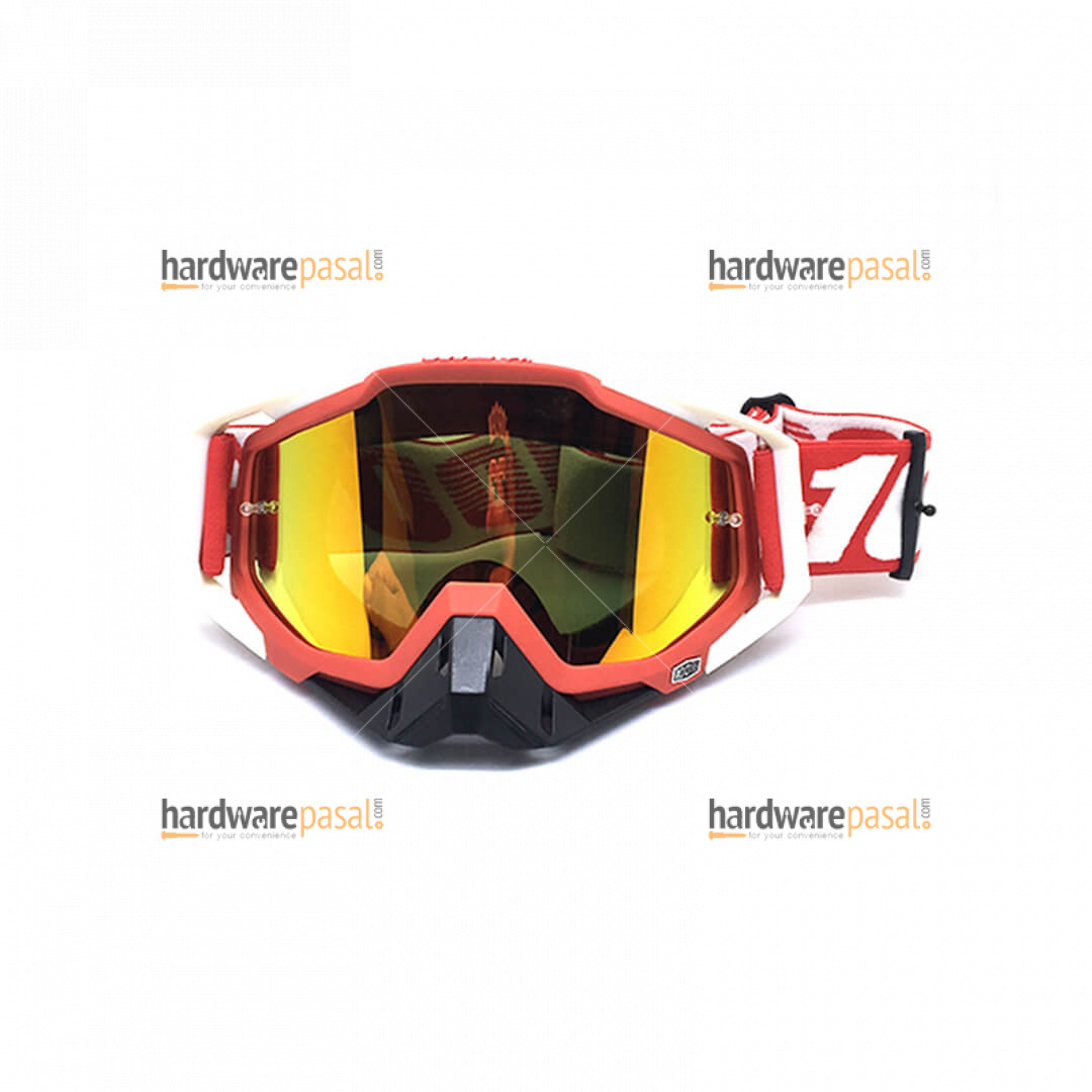 100% Red White Mix MX Goggles