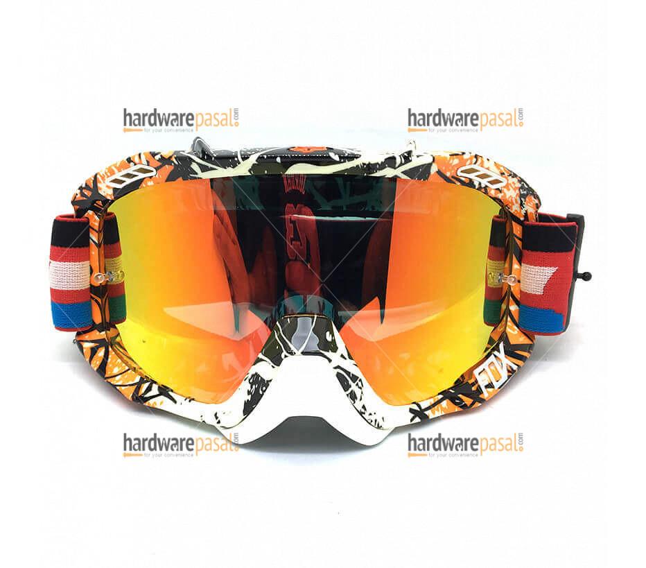 Fox orange and white mix Air Defense Goggles