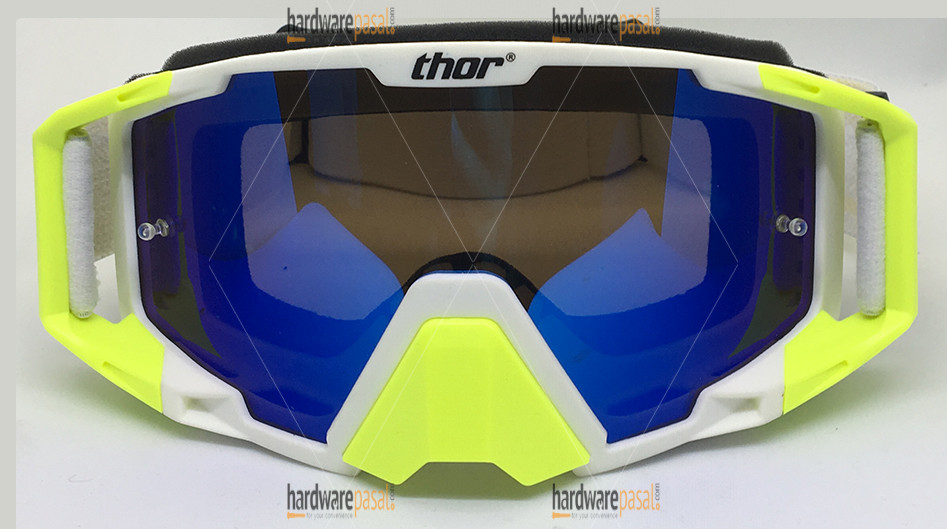 Thor Riding Goggles- Neon and White Mix