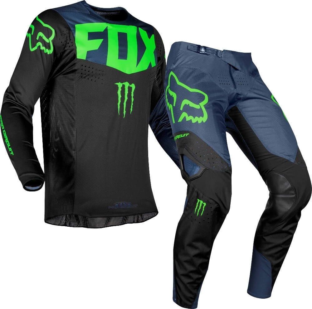 Fox Jersey- Black and Blue Mix