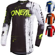 Oneal Jersey- Black and White Mix