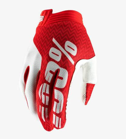 100% Airmatic Gloves- Red white mix