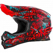 Oneal Helmet - red and blue design 3 series