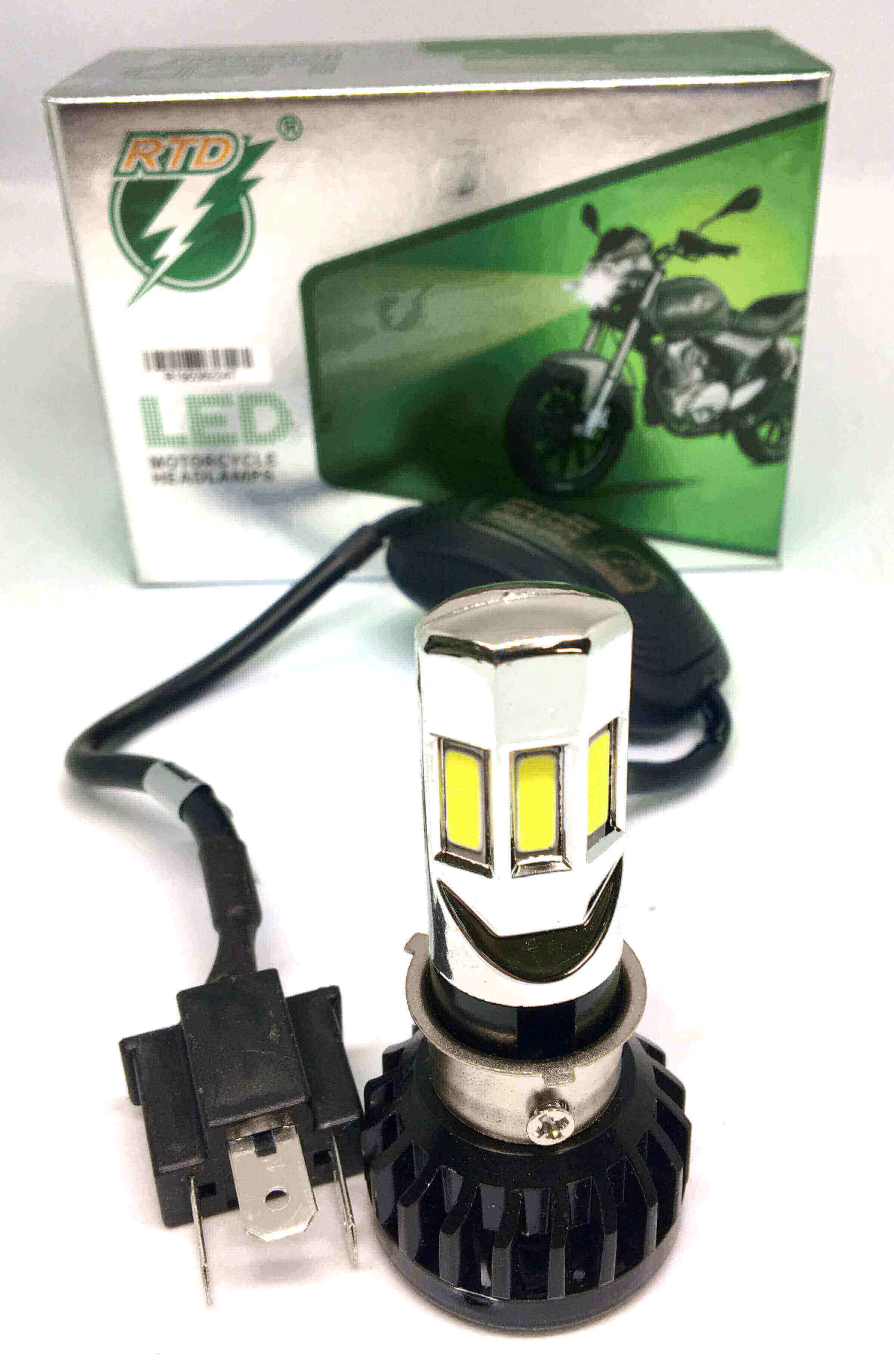 Motorcycle Headlight 12v 36w Motorcycle scooter LED head lights super Bright Bulbs - White 1Pcs.
