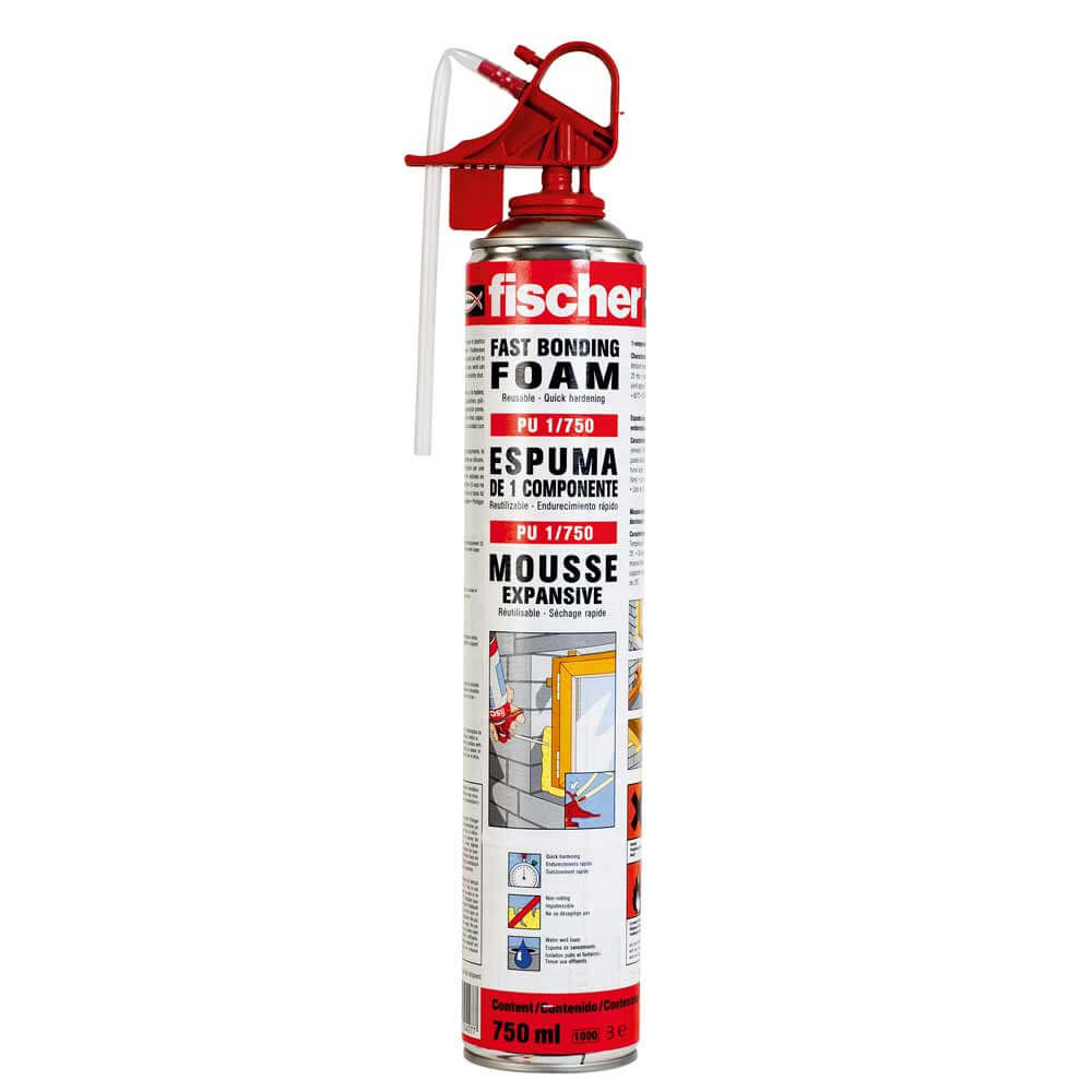 Fischer PU Fast Bonding Foam 750ml