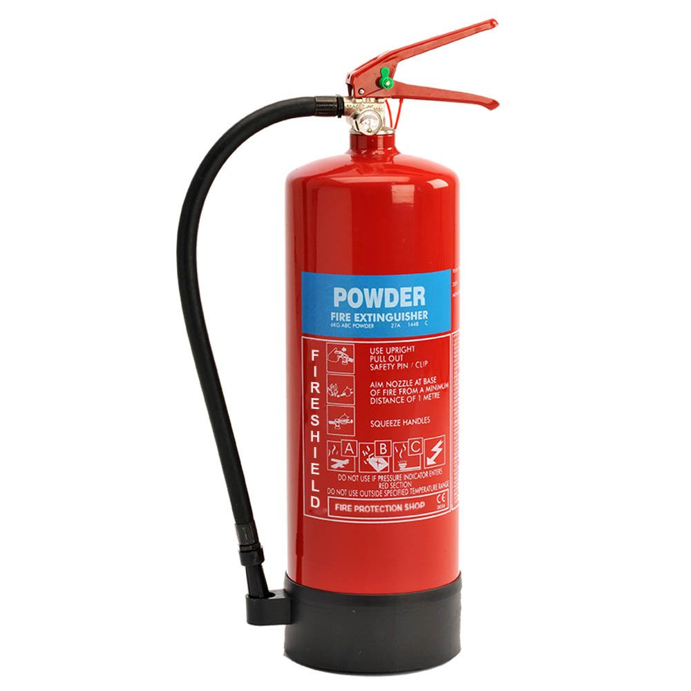 ABC 6KG Dry Powder Fire Extinguisher Fireshield PRO